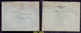 ALLEMAGNE REICH 1936 Enveloppe Circulée Avec Affranchissement Mécanique Brême - Brieven En Documenten