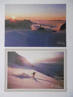 Lot De 12 CPM - Crépuscule COUCHER DE SOLEIL Sur Paysage D'hiver NEIGE Sapins - Certaines Signées Photographe - 5 - 99 Cartes
