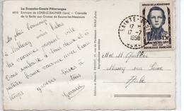 JURA  :   SAINTE AGNES  Recette Distribution  1958 - Manual Postmarks