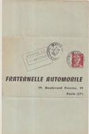 "FRANCE : ENTIER POSTAL . 0.25 . TYPE MULLER . ELP TSC . "" LA FRATERNELLE AUTOMOBILE  "" . 1960 . OBL . - Sobres Tipos Y TSC (antes De 1995)"