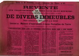 TIMBRE FISCAL SUR AFFICHE DE REVENTE 1900 - Fiscale Zegels