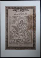SAINT MARTIN EVESQUE DE TOVRS  NOULIN DU BAZACLE   - EDIT +- 1880  IMAGERIE D'EPINAL  - 52 X 38 CM -   3 SCANS - Imágenes Religiosas