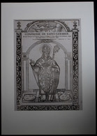 CONFRERIE DE SAINT GERMAIN  DIXIEME EVECQUE DE TOULOUSE  - BOIS GRAVE - 47 X 37 CM -   3 SCANS - Imágenes Religiosas