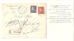 276REF/ TP 529-531 Poortman S/L. Recommandée-Exprès Barré C.Liège 1942 > E/V Verso Divers Annotations Retour Et Réclamé - Brieven En Documenten