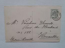 Belgique  Oblitération Courtrai Depart Sur CP Fantaisie - AK [1871-09]