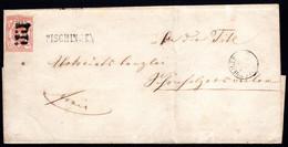 SCHWEIZ, 1852 Rayon III Ziegelrot, Auf Brief - 1843-1852 Federal & Cantonal Stamps