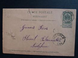 Belgique  Oblitération Deerlyck Sur EP N°23 Envoi Pour Avelghem - AK [1871-09]