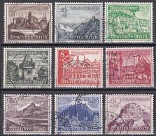 Deutsches Reich 1939 - Mi.Nr. 730 - 738 - Gestempelt Used - Gebraucht