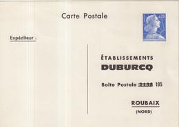 "FRANCE : ENTIER POSTAL . 0.20 . TYPE MULLER . CPP TSC . "" ETABLISSEMENTS DUBURCQ . ROUBAIX  "" . 1964 . - Standard- Und TSC-AK (vor 1995)"