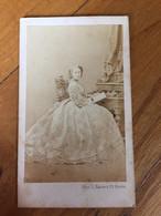 Cdv Antonia Du Portugal Ancienne Photo Sur Carton - Identified Persons