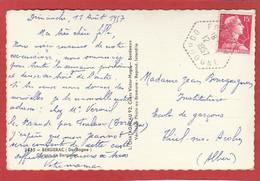 Dordogne - FOULEIX - Cachet Hexagonal - 1957 Sur Carte Postale Vers Thiel Sur Acolin - 1921-1960: Période Moderne