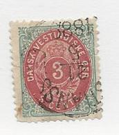 23802 ) Danish West Indies 1874 Thin Paper Tear Top Left - Deens West-Indië