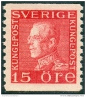 ZWEDEN 1921-26 15öre Guataf V Rood Tweezijdig Type II PF-MNH-NEUF - Nuevos