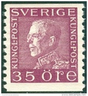 ZWEDEN 1921-36 35öre Guataf Violet Tweerzijdig Wit Papier PF-MNH-NEUF - Nuevos