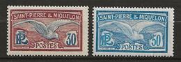 SAINT PIERRE Et MIQUELON 1922/28 . N°s 112 Et 114 . Neufs  ** (MNH) - Unused Stamps