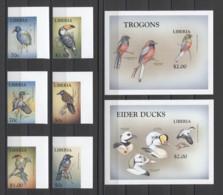 Liberia Birds Oiseaux Vögel Uccelli Ducks 1999 Mi#2279-96B Bl#201-202B MNH (CORNER) - Other