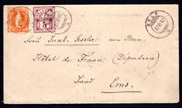 SCHWEIZ, 1890 Stehende Helvetia, Grobe Zähnung, Mischfrankatur - Covers & Documents
