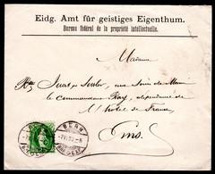 SCHWEIZ, 1890 Stehende Helvetia, Grobe Zähnung, Auf Brief - Covers & Documents
