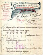 02.AISNE.SAINT QUENTIN.QUINCAILLERIE DE BATIMENT,MEUBLE.COULEURS & VERNIS.ROBERT & TAILLANT AU RABOT D'OR 18 RUE D'ISLE. - Unclassified