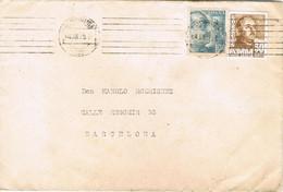 41209. Carta PALMA De MALLORCA (Baleares) 1956 A Barcelona. Rodillo Mudo - 1951-60 Cartas