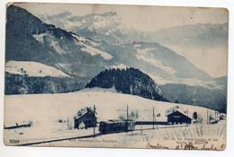 CHEMIN DE FER AIGLE LEYSIN ET LES DENTS DE MORCLES (VAUD) - TRAIN / GARE - VD Vaud