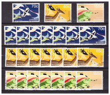 Antillen / Antilles 1987 X8 Bird Deer Iguana Used - Curacao, Netherlands Antilles, Aruba