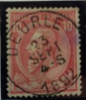 Belgique  Oblitération  Deurle  Sur COB N°46 - 1884-1891 Leopold II.