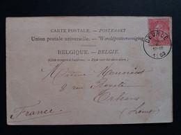 """Belgique  Oblitération  Deurle  Sur CP Vue Anvers """" Hotel De Ville """" - AK [1871-09]"""