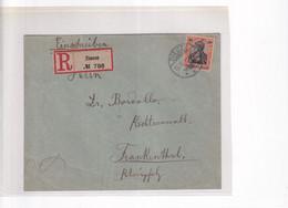 1911 - MOSELLE - ENVELOPPE RECOMMANDEE De DIEUZE => FRANKENTHAL (PFALZ) - Elzas-Lotharingen