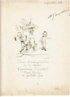 TAVERNE POUSSET 12 Juillet 1933 - DINER D'INAUGURATION - Pochette Illustration Poulbot  - TRES RARE - VOIR SCANS - Menu