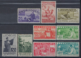 Luxembourg - Luxemburg - Timbres  -  1935 Intellectuels  9  Timbres  * - Gebraucht