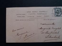 Belgique  Oblitération  Dieghem  Sur CP Fantaisie - AK [1871-09]