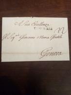 Prefilatelica Da Parigi A Genova 5 Maggio 1760 - ...-1850 Voorfilatelie