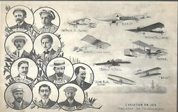 Semaine De Champagne L' Aviation En 1909 - Piloten