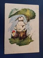 """Clever Bunny"" By Kuznetsov,  AMANITA  - OLD Soviet PC 1959 -  Mushroom - Champignon - Funghi"