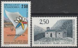 Année 1991 - N° 400 Et 401 - Chapelle De Sant Roma Dels Vilars - Jeux Sportifs Des Petits États D' Europe - 2 Valeurs - Ongebruikt