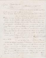 1838 BORDEAUX - LAS. à MM. BALARD à CASTRES Relative à De L'INDIGO Tendre Qui A Beaucoup D'éclat - PRIX Selon Couleurs - Historical Documents