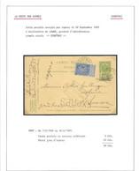 EX29/ Entier CP 5c + TP 60 En Exprès C. Courtrai 1905 > Lauwe C. C.F. En Arrivée - Cartes Postales [1871-09]
