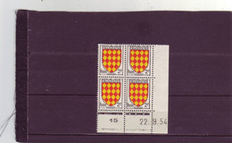 N° 1003 - 2F ANGOUMOIS - A De A+B - 1° Tirage Du 10.9 Au 25.9.54 - 22.09.1954 - - - 1950-1959