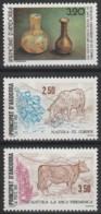 Année 1991 - N° 404 à 406 - Vestiges Des Temps Anciens - Protection De La Nature : Mouton Et Vache  - 3 Valeurs - Neufs - Ongebruikt