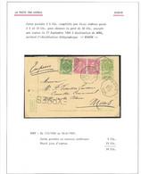 EX30/ Entier CP 5c + TP 56-58(2) En Exprès C. Octogonal Binche 1904 > Mons C. Tg Octogonal En Arrivée - AK [1871-09]