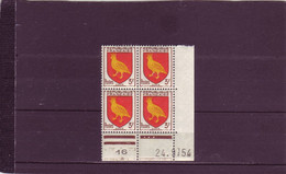 N°1004 - 3F Blason AUNIS - A De A+B - 1° Tirage Du 17.9.54 Au 24.9.54 - 24.09.1954 - Dernier Jour - - 1950-1959