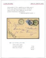 EX32/ Entier CP 5c + TP 60 En Exprès C.Tg Octogonal Bruxelles (Quartier Louise) 1905 > E/V - AK [1871-09]