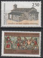 Année 1992 - N° 415 Et  422 - Église De Sant Andreu D'Arinsal - Retable De Sant Eulalia D'Encamp - 2 Valeurs - Ongebruikt