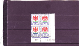 N°1184- 2F Blason De NICE - B De A+B - 1° Tirage Du 9.10.58 Au 7.11.58 - 13.10.1958 - - 1950-1959