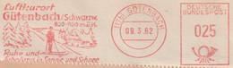 Allemagne Fédérale 1962. EMA Francotyp Gütenbach, Calme Et Convalescence Au Soleil Et à La Neige. Ski - Skiing