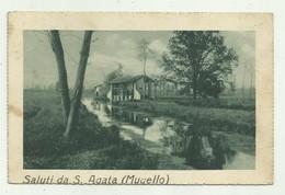 SALUTI DA S.AGATA ( MUGELLO ) 1938 VIAGGIATA  FP - Firenze (Florence)