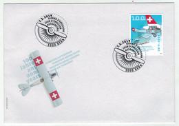 Suisse//Schweiz//Svizerra // Switzerland// FDC 2019 //  100 Ans Transport Aérien Suisse - FDC