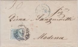 1850 Piego Completo Da Trieste Al Ducato Di Modena Con 9 Kreuzer. - Covers & Documents