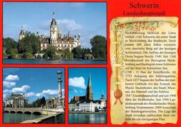 1 AK Germany / Mecklenburg-Vorpommern * Chronikkarte Der Landeshauptstadt Schwerin Mit Schloß, Theater Und Dom * - Schwerin